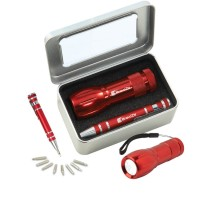 S08 Gift set FL01 Star flashlight & KM401 Screwdriver