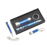 S12 Gift set KF100 Keychain flashlight & KM401 Screwdriver