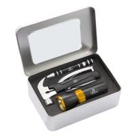 S33 Home essentials kit: FL28 1W 90 Lumens flashlight & TM309 large hammer multitool & KM401 scredriver set